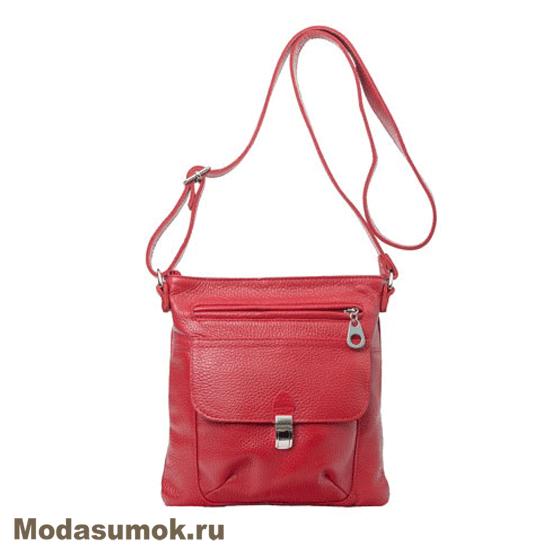 b472ceb197d8 Женская сумка из натуральной кожи Protege Ц-133 красная купить в ...